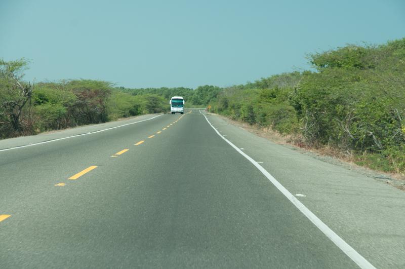 Route de Barranquilla ; alentours du marais de Cienaga