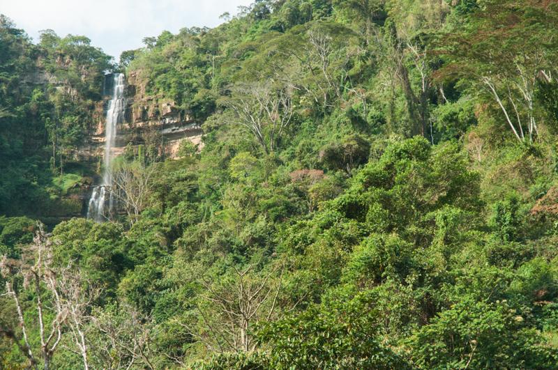 Cascades de Juan Curi ; région de San Gil (Santander)