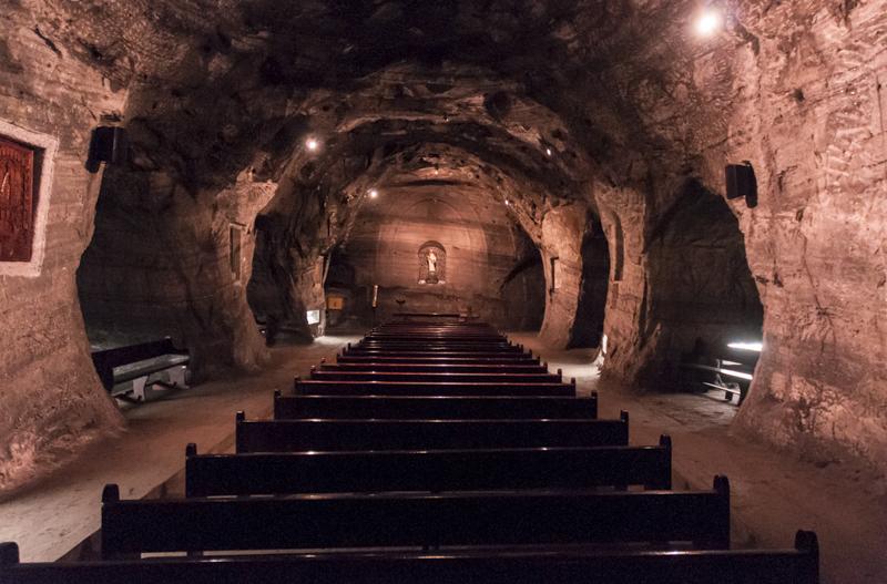 Chapelle de la Vierge de Guaza ; cathédrale de sel ; Zipaquira