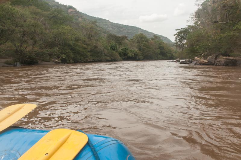 Rafting sur le Rio Fonce ; région de San Gil (Santander)