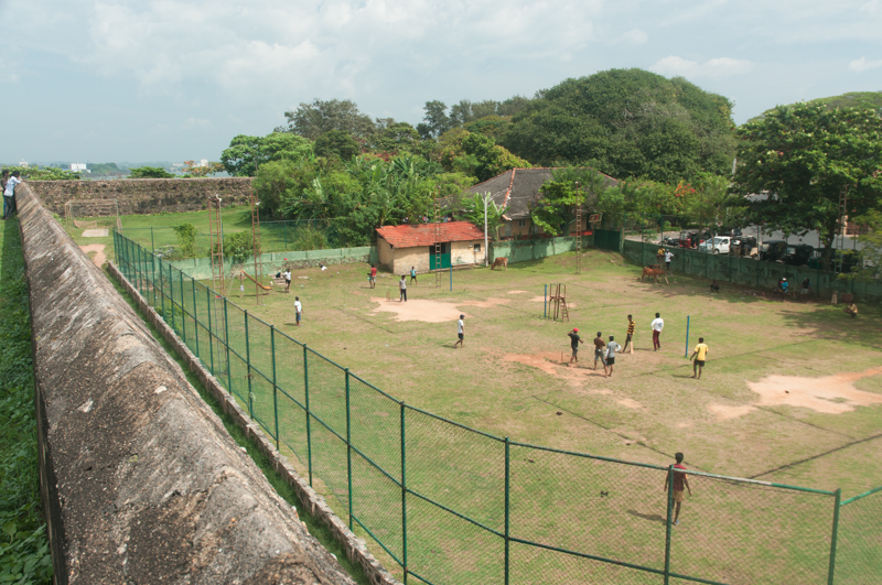 Cricket à Galle Fort